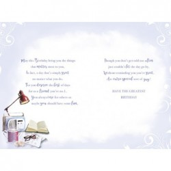Special Friends Stockings Baubles & Presents Design Christmas Card Lovely Verse