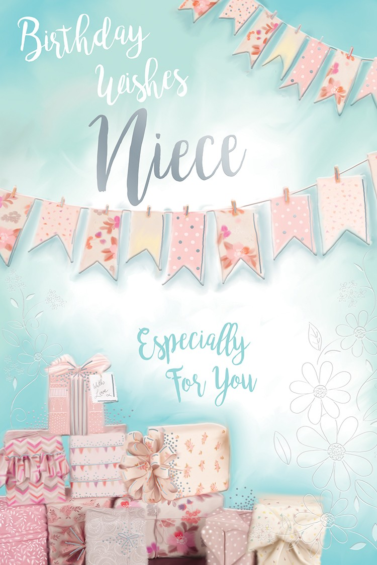For You Son Presents Tree Snowflake & Bunting Design Christmas Card ...