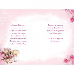 To A Special Couple Flowers Presents & Gift Design Christmas Card Lovely Verse