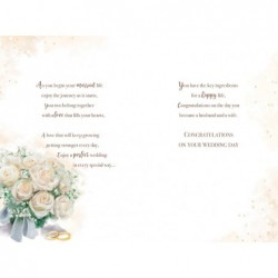 Both Of You Open Fire Mantle Stockings & Tea Design Christmas Card Lovely Verse