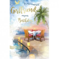 Auntie & Uncle Robins Flowers & Holly Design Christmas Card Lovely Verse