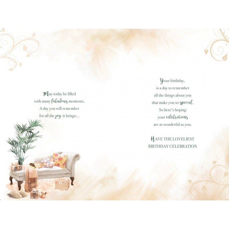 Daughter & Son In Law Tree Gifts & Baubles Design Christmas Card Lovely Verse