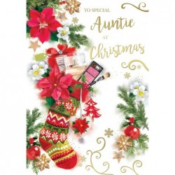 Special Nanna Embellished Christmas Card Hand-Finished Champagne Range Cards