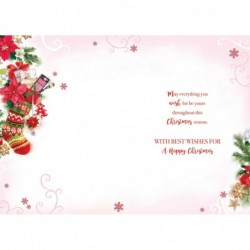 Wonderful Mum Embellished Christmas Card Hand-Finished Champagne Range Cards