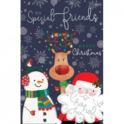 Special Son Embellished Christmas Card Hand-Finished Champagne Range Cards