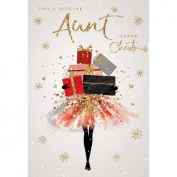 To A Special Couple Embellished Christmas Card Hand-Finished Champagne Range Cards