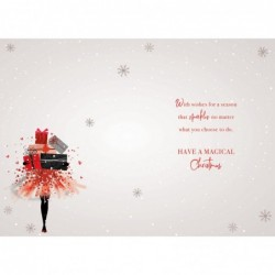 to Both of You Embellished Christmas Card Hand-Finished Champagne Range Cards