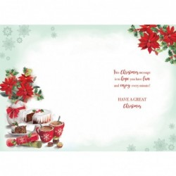 Brother & Sister In Law Stockings Snowflake Design Christmas Card Lovely Verse