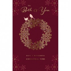 On Your Anniversary Best Wishes Two Owls & Flowers Design Modern Greeting Card