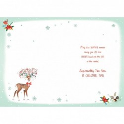 To A Special Couple Birds Stockings & Bauble Design Christmas Card Lovely Verse