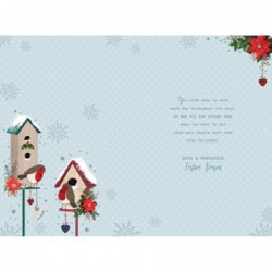 Someone Special Candle Presents Towel & Flower Design Lovely Verse Birthday Card