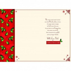To A Beautiful Goddaughter On Your Christening Day Cross & Bootie Design Card