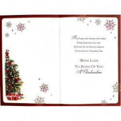 To A Very Special Son And His Wife On Your Wedding Day Couple Design Card