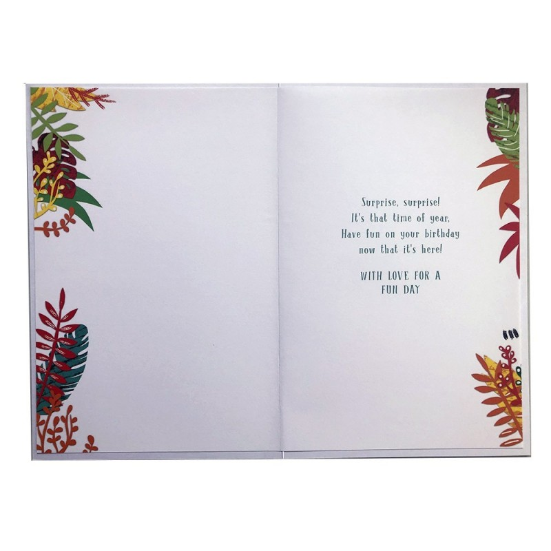 Daughter & Son In Law On Your Anniversary Rose & Scroll Design Lovely Verse Card