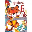 Daughter 21st 21 Number Flower & Word Design Happy Birthday Card Lovely Verse