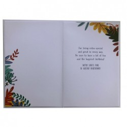 On Your 50th Golden Anniversary Champagne Design Greeting Card Lovely Verse