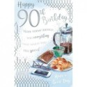 Age 90 90th Brother Brother-in-Law Uncle Dad Husband Grandad Happy Birthday Card