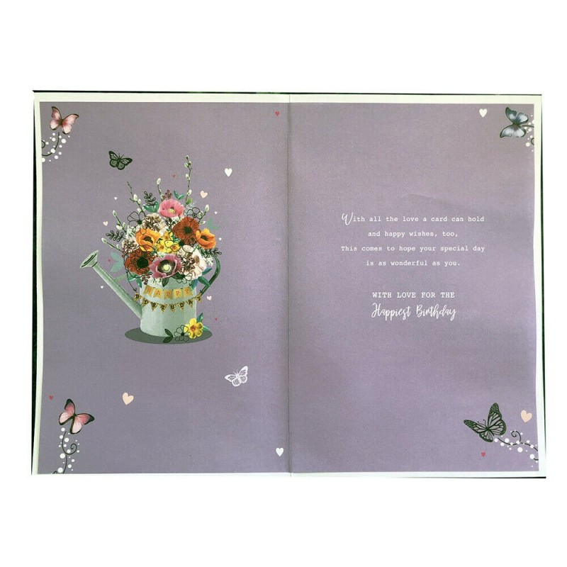 Special Sister 50th 60th 70th 80th Butterfly Design Birthday Card Lovely Verse