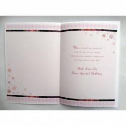To a Much Loved Wife Flowers Butterfly & Shoe Design Happy Birthday Card