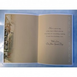 Granddaughter 16 16th Happy Birthday Girl & Present Design Lovely Verse Card