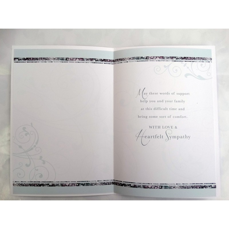 Just To Say I'm Here If You Need Me Modern Bright Flower Design Condolence Card