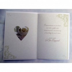 Husband Large Luxury Boxed Heart & Bauble Design Christmas Card Lovely Verse