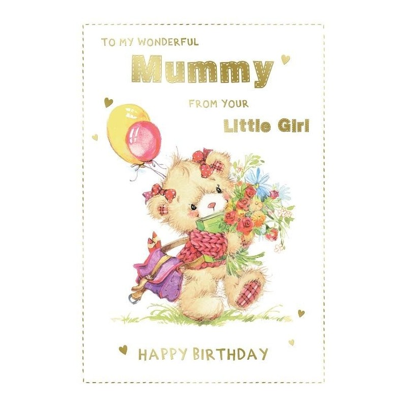 Mum To Be Congratulations Bear Holding Blanket Lovely Words Design Greeting Card