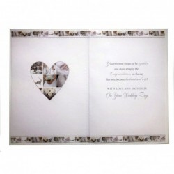 To A Special Godson & Your Bride On Your Wedding Day Champagne Design Card