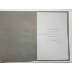 Daughter & Son In Law Happy Anniversary Heart & Flower Design Card Lovely Verse