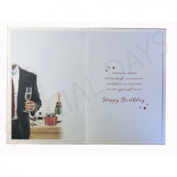 Art Deco For Someone Special Lady Design Lovely Verse Large Happy Birthday Card
