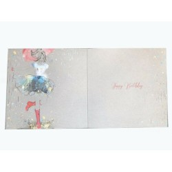 To A Special Goddaughter Presents Bag Balloon & Stars Design Happy Birthday Card