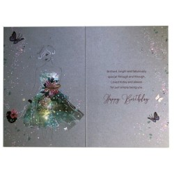 On The Birth Of Your Grandson Bear & Balloons Design New Baby Card Lovely Verse