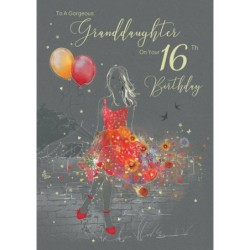 Daughter 6 6th Girl Star & Word Design Happy Birthday Quality Card Lovely Verse