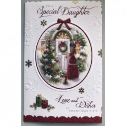 For My Wife With All My Love Letters Roses  & Flowers Design Happy Birthday Card