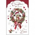 Daughter With Love Dress Shoes Bag & Flowers Design Happy Birthday Card