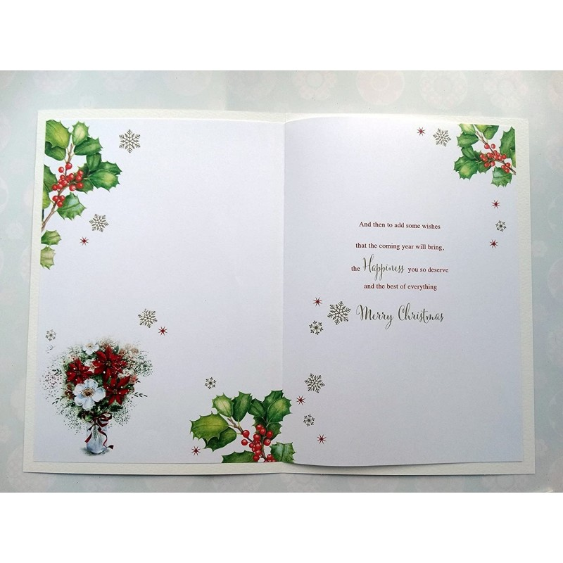 Daughter & Son In Law On Your Anniversary Roses Cage & Flowers Design Card