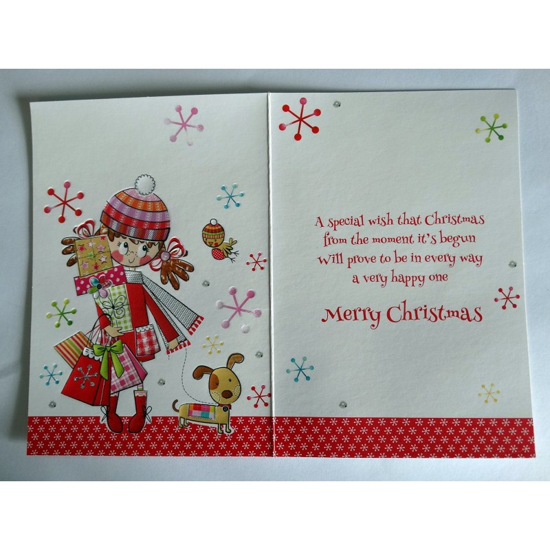 Special Grandma Embellished Christmas Card Hand-Finished Champagne Range Cards